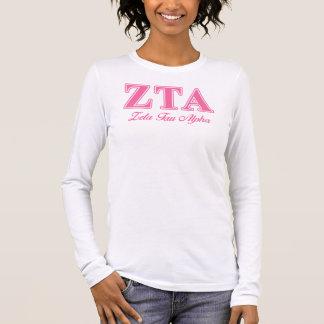 Alpha rosa Buchstaben ZetaTau Langarm T-Shirt