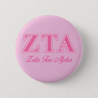 Alpha rosa Buchstaben ZetaTau Runder Button 5,7 Cm