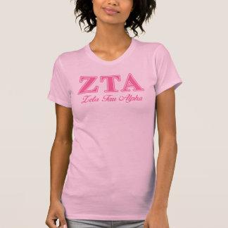 Alpha rosa Buchstaben ZetaTau T-Shirt