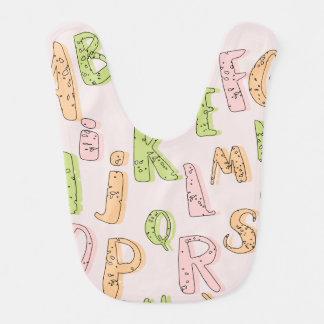 Alphabet-Baby-Schellfisch Babylätzchen