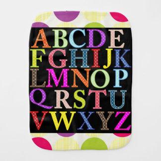 Alphabet-Babyburp-Stoff Spucktuch