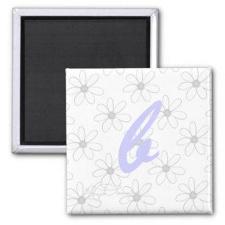 Alphabet-Buchstabe B Quadratischer Magnet