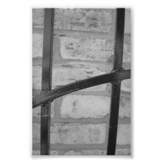Alphabet-Buchstabe-Fotografie H4 Schwarzweiss-4x6