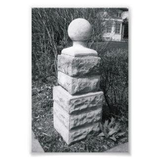 Alphabet-Buchstabe-Fotografie I8 Schwarzweiss-4x6