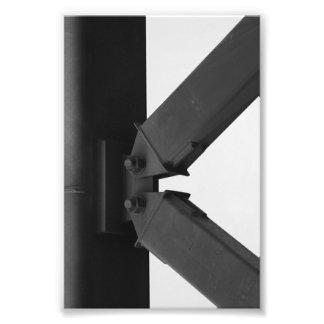 Alphabet-Buchstabe-Fotografie K3 Schwarzweiss-4x6