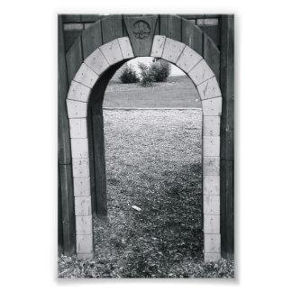 Alphabet-Buchstabe-Fotografie-N2 Schwarzweiss-4x6 Kunstfoto