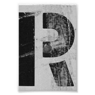 Alphabet-Buchstabe-Fotografie R2 Schwarzweiss-4x6