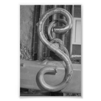 Alphabet-Buchstabe-Fotografie S5 Schwarzweiss-4x6 Photographie