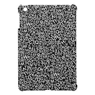 Alphabet-Charakter-Schriftart-weißes iPad Mini Hülle