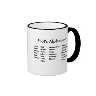 Alphabet das Alphabet des Pilot Tee Haferl