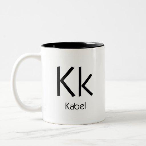 Alphabet der Typografie-Tasse - Kabel