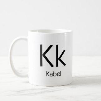Alphabet der Typografie-Tasse - Kabel Tasse