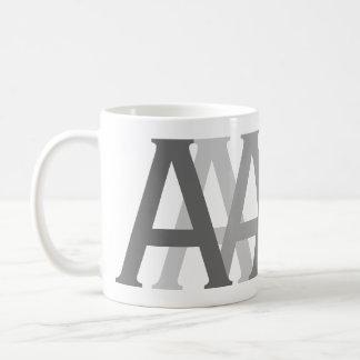 Alphabet Gifting Grau beschriftet mit Monogramm Kaffeetasse