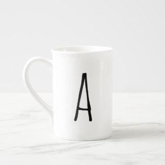 Alphabet Gifting moderne Monogramm-Tasse Porzellantasse