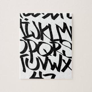 Alphabet-Graffiti Puzzle