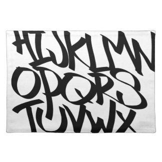 Alphabet-Graffiti Stofftischset