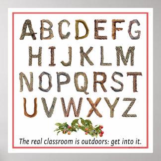 Alphabet-Klassenzimmer im Freien Poster