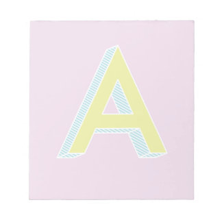 Alphabet-Malvenfarbe A Notizblock