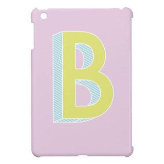 Alphabet malvenfarbenes B iPad Mini Hülle