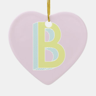Alphabet malvenfarbenes B Keramik Ornament