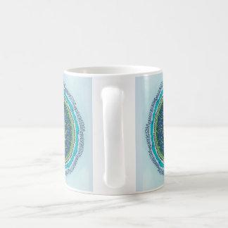 Alphabet-Mandala Kaffeetasse