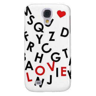 Alphabet mit dem Wort: Liebe Galaxy S4 Hülle