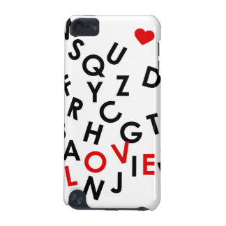 Alphabet mit dem Wort: Liebe iPod Touch 5G Hülle