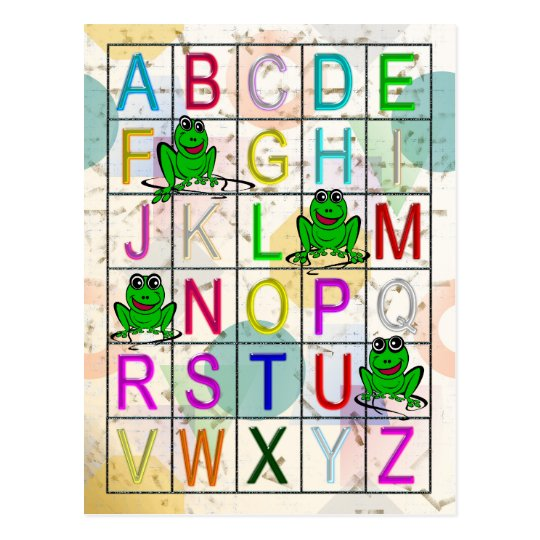 Alphabet Postkarte