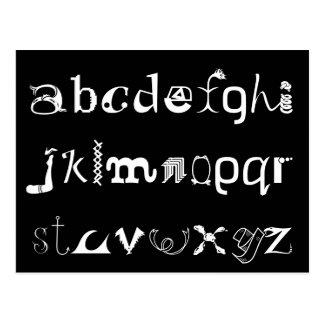 Alphabet-Postkarte Postkarte