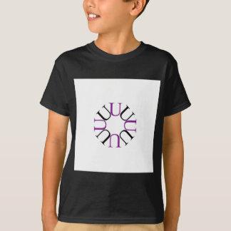 Alphabet U-förmig wie ein Hexagon T-Shirt