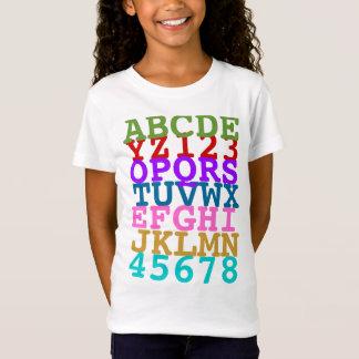 ALPHABET-ZAHLEN BUNT T-Shirt