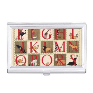 Alphabet-Zoo Visitenkarten Etui