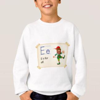 Alphabetbuchstabe E Sweatshirt