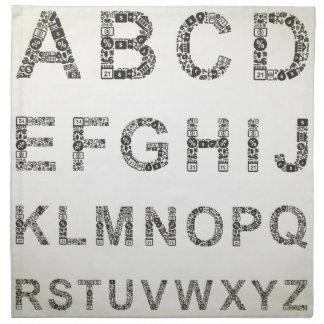 Alphabetgeschäft Stoffserviette