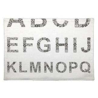 Alphabetgeschäft Stofftischset