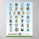 Alphabetimals Plakat - Dansk Version