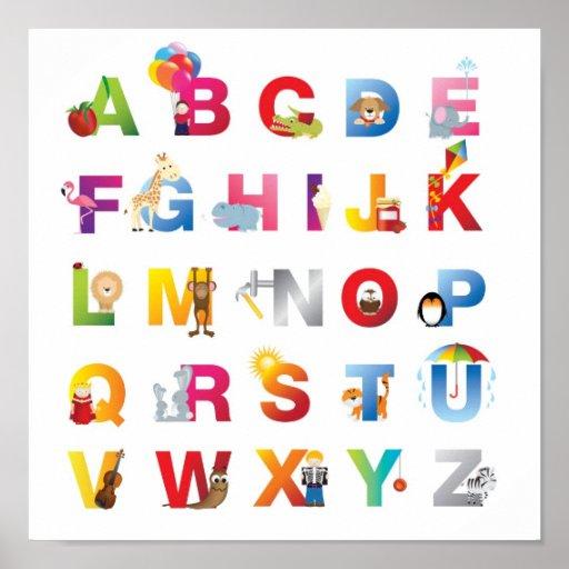 Alphabetplakat der Kinder Plakate