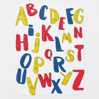 Alphabetprimärfarbbabydecke Puckdecke