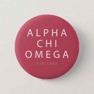 Alphachi Omega | Est. 1885 Runder Button 5,7 Cm