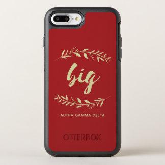 Alphagamma-Deltagroßer Kranz OtterBox Symmetry iPhone 8 Plus/7 Plus Hülle