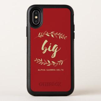 Alphagamma-Deltagroßer Kranz OtterBox Symmetry iPhone X Hülle