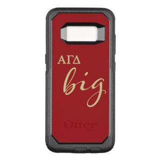 Alphagamma-Deltagroßes Skript OtterBox Commuter Samsung Galaxy S8 Hülle