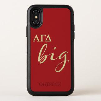 Alphagamma-Deltagroßes Skript OtterBox Symmetry iPhone X Hülle