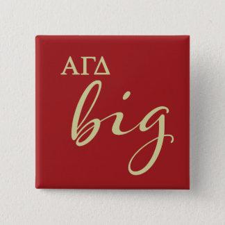 Alphagamma-Deltagroßes Skript Quadratischer Button 5,1 Cm