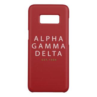 Alphagamma-Deltamoderne Art Case-Mate Samsung Galaxy S8 Hülle