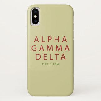 Alphagamma-Deltamoderne Art iPhone X Hülle