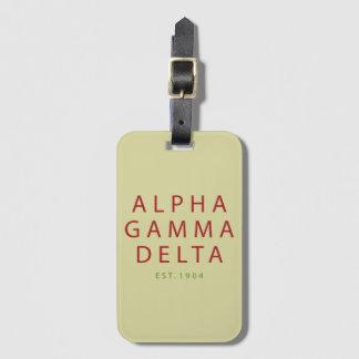 Alphagamma-Deltamoderne Art Kofferanhänger