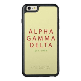 Alphagamma-Deltamoderne Art OtterBox iPhone 6/6s Plus Hülle