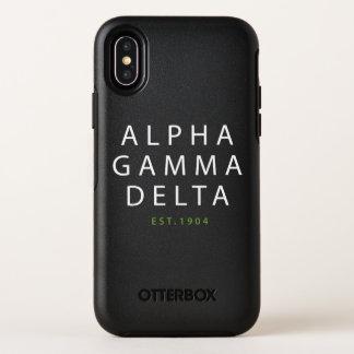 Alphagamma-Deltamoderne Art OtterBox Symmetry iPhone X Hülle