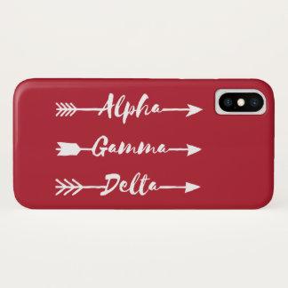 Alphagamma-Deltapfeil iPhone X Hülle